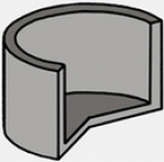 Бетонное кольцо с дном, дно для септика из колец (Диаметр: внутренний - 100 см, внешний: - 116 см)