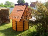 Домик для колодца №6 со штурвалом из блок-хауса, установленный в Дорохово
