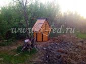 Домик для колодца №5, установленный в Волокаламском районе, снт Ручеек